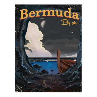 Cartão Postal Poster das viagens vintage de Bermuda