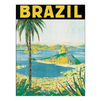 Cartão Postal Poster das viagens vintage de Brasil