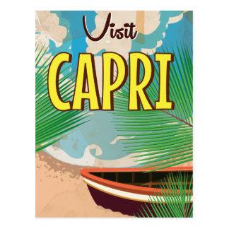 Cartão Postal Poster das viagens vintage de Capri