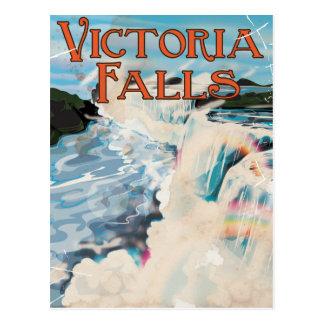 Cartão Postal Poster das viagens vintage de Cataratas Vitória