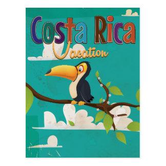 Cartão Postal Poster das viagens vintage de Costa Rica