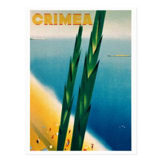 Cartão Postal Poster das viagens vintage de Crimeia restaurado