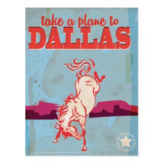 Cartão Postal Poster das viagens vintage de Dallas