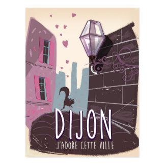 Cartão Postal Poster das viagens vintage de Dijon France