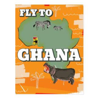 Cartão Postal Poster das viagens vintage de Ghana