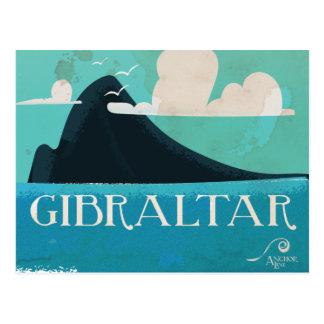 Cartão Postal Poster das viagens vintage de Gibraltar