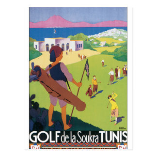 Cartão Postal Poster das viagens vintage de Golfe de La Soukra