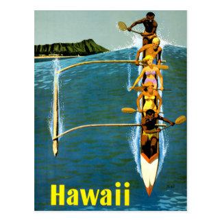 Cartão Postal Poster das viagens vintage de Havaí restaurado