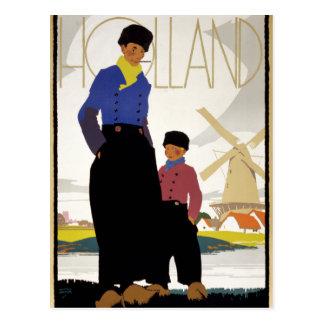 Cartão Postal Poster das viagens vintage de Holland restaurado