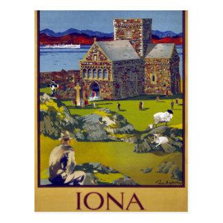 Cartão Postal Poster das viagens vintage de Iona Scotland
