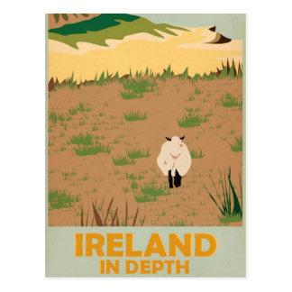 Cartão Postal Poster das viagens vintage de Ireland da visita