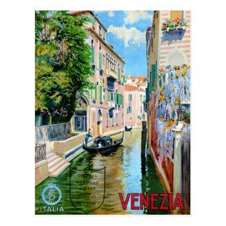 Cartão Postal Poster das viagens vintage de Italia Veneza