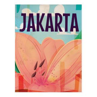 Cartão Postal Poster das viagens vintage de Jakarta