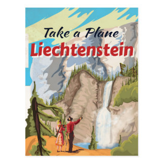 Cartão Postal Poster das viagens vintage de Liechtenstein