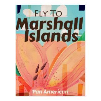 Cartão Postal Poster das viagens vintage de Marshall Islands