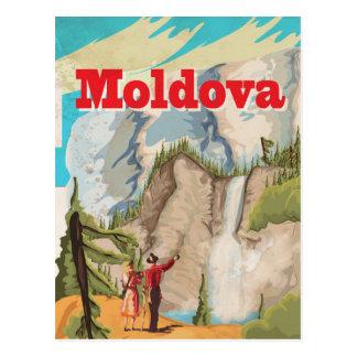 Cartão Postal Poster das viagens vintage de Moldova