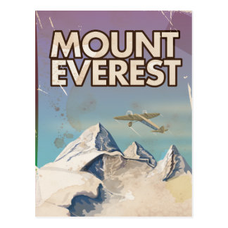 Cartão Postal Poster das viagens vintage de Monte Everest