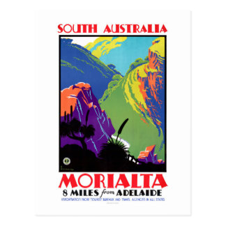 Cartão Postal Poster das viagens vintage de Morialta do Sul da