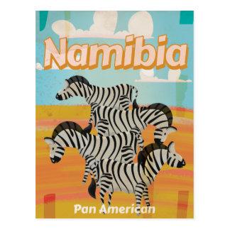 Cartão Postal Poster das viagens vintage de Namíbia