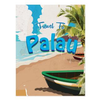 Cartão Postal Poster das viagens vintage de Palau