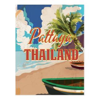 Cartão Postal Poster das viagens vintage de Pattaya Tailândia