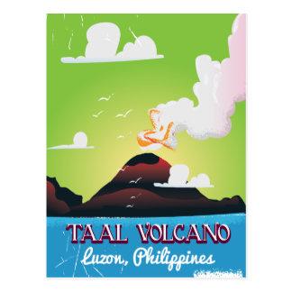 Cartão Postal Poster das viagens vintage de Philipp do vulcão do