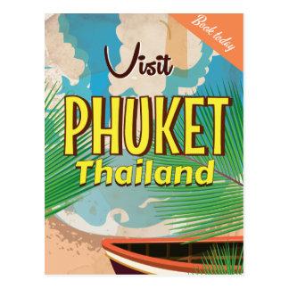 Cartão Postal Poster das viagens vintage de Phuket Tailândia