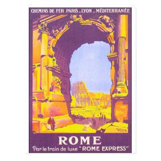 Cartão Postal Poster das viagens vintage de Roma