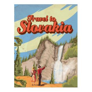 Cartão Postal Poster das viagens vintage de Slovakia