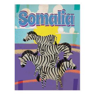 Cartão Postal Poster das viagens vintage de Somália