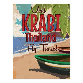 Cartão Postal Poster das viagens vintage de Tailândia da praia