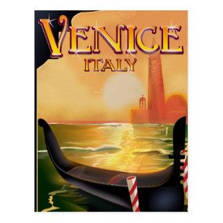 Cartão Postal Poster das viagens vintage de Veneza, Italia