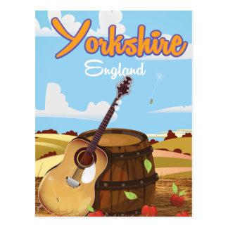 Cartão Postal Poster das viagens vintage de Yorkshire