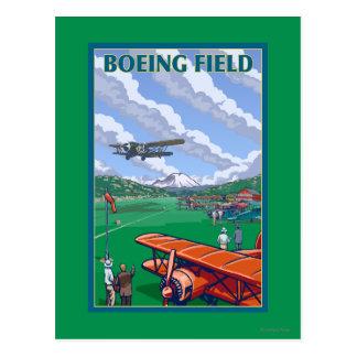 Cartão Postal Poster das viagens vintage do campo de Boeing