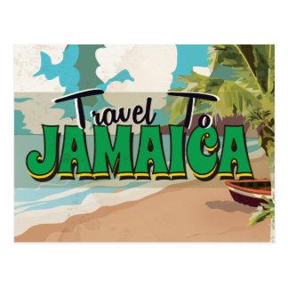 Cartão Postal Poster das viagens vintage do casamento de Jamaica