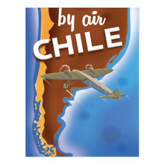 Cartão Postal Poster das viagens vintage do Chile