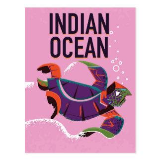 Cartão Postal Poster das viagens vintage do Oceano Índico