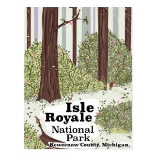 Cartão Postal Poster das viagens vintage do parque nacional de