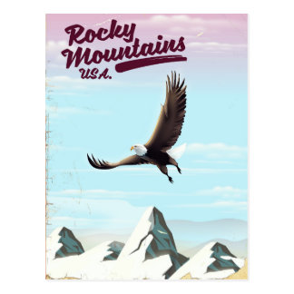 Cartão Postal Poster das viagens vintage dos EUA das montanhas