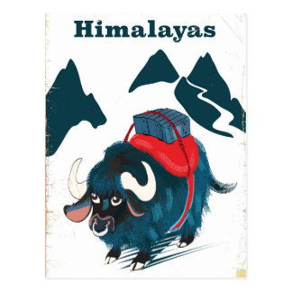 Cartão Postal Poster das viagens vintage dos Himalayas