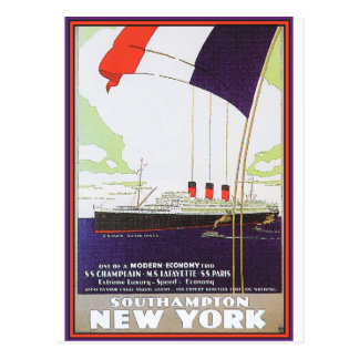 Cartão Postal Poster das viagens vintage: Southampton New York