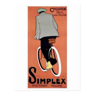 Cartão Postal Poster de 1915 palavras simples