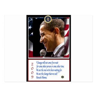 Cartão Postal Poster de Barack Obama