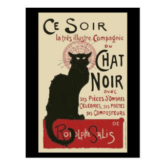 Cartão Postal Poster de Ce Soir Le Conversa Noir do vintage