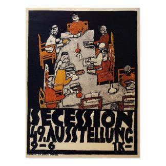 Cartão Postal Poster de Egon Schiele- para a separação de Viena