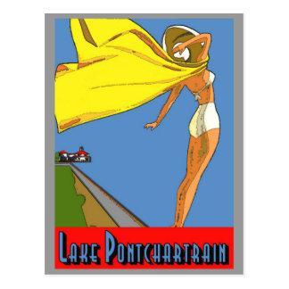 Cartão Postal Poster de Pontchartrain do lago