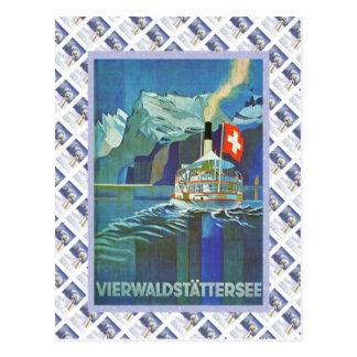 Cartão Postal Poster de Raulway do suíço do vintage,