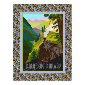 Cartão Postal Poster de Raulway do suíço do vintage, estrada de