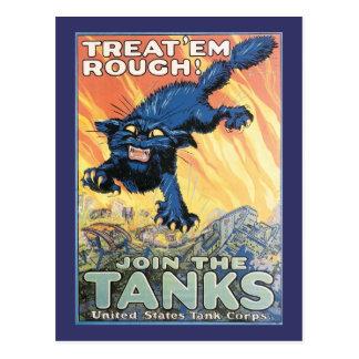 Cartão Postal Poster de recrutamento do corpo do tanque dos E.U.