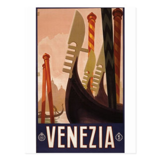 Cartão Postal Poster de viagens 1920 Veneza de Venezia, Italia